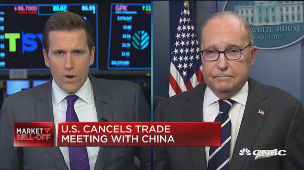 The canceled meeting between the U.S. and China is not true, says NEC director Kudlow