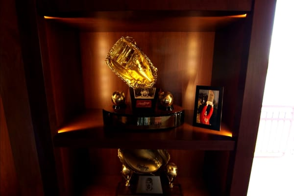 Golden glove memorabilia
