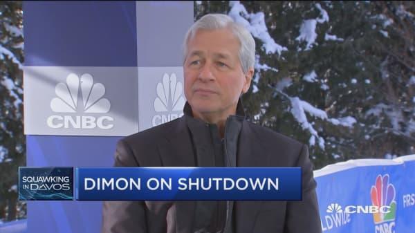 JP Morgan CEO Jamie Dimon gives his take on the government shutdown