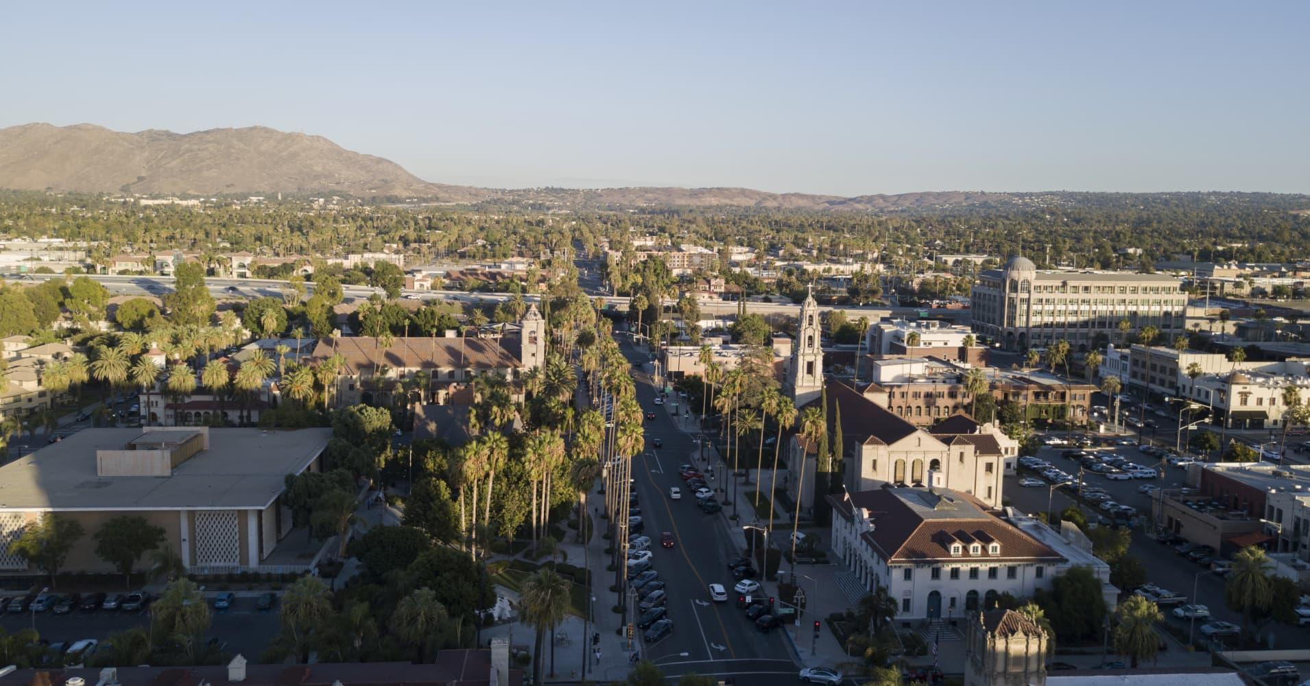 View of Riverside, California.