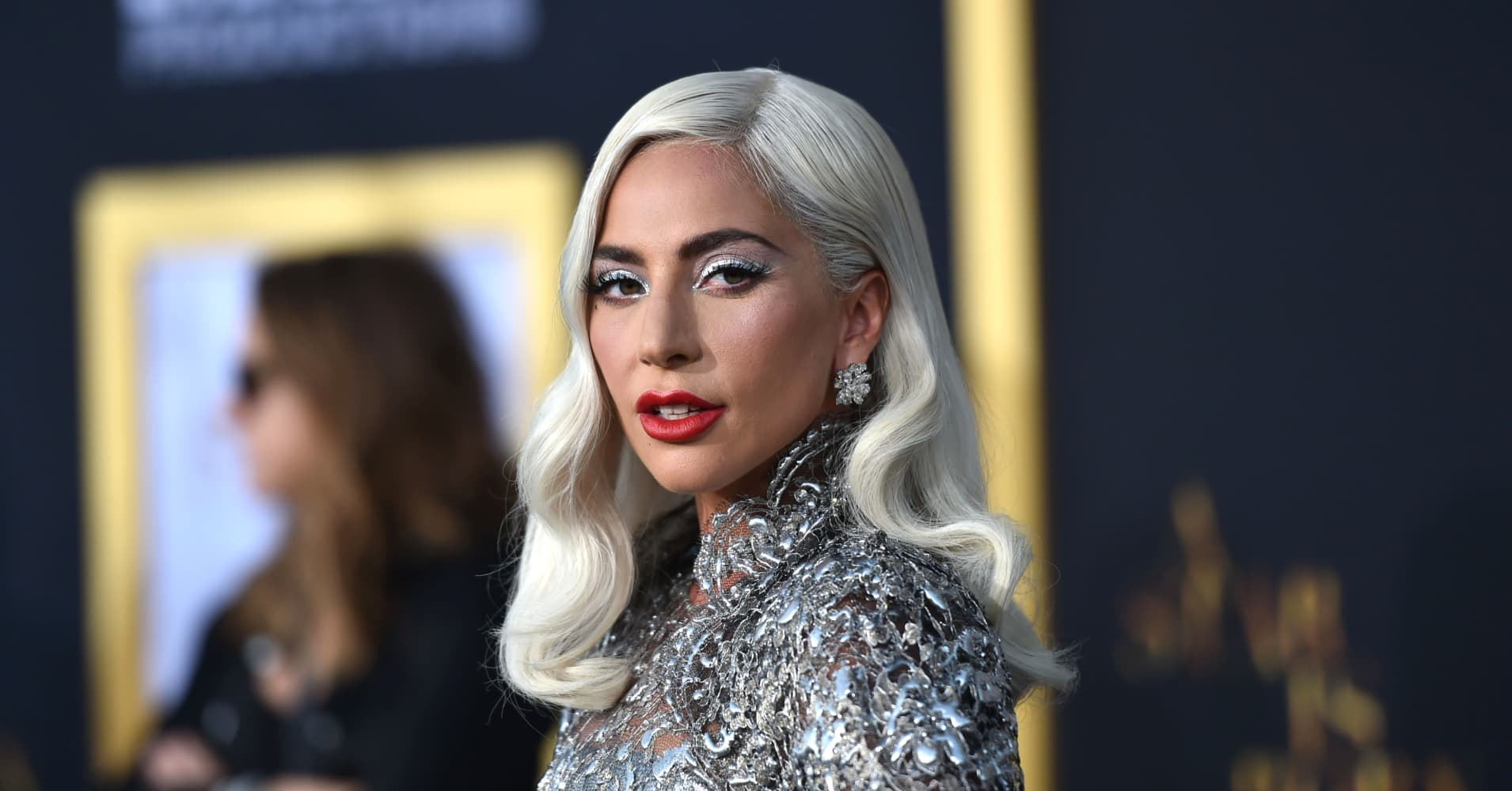 "Lady Gaga arrives at the premiere of ""A Star Is Born"""
