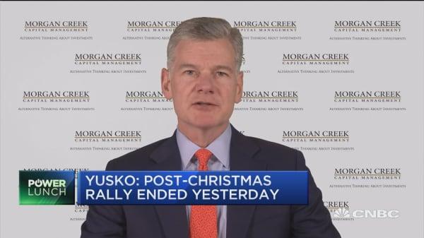 Bear market will continue through 2020, says Mark Yusko