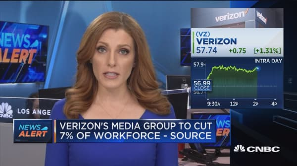 Verizon's Media Group to cut 7% of workforce: Source