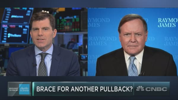 Wall Street bull Jeff Saut expects a near-term pullback will hit stocks, and he's getting ready to buy it