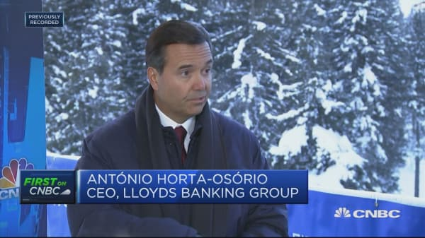 UK economy progressing well but significant uncertainty ahead, Lloyds CEO says