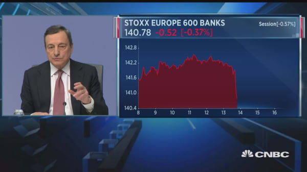Threat of protectionism creating uncertainty, ECB's Draghi says