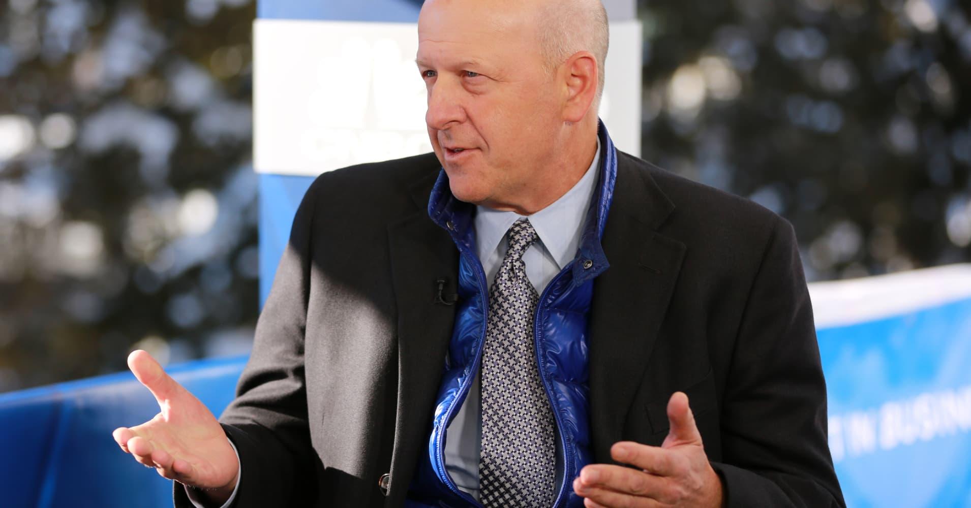 Goldman CEO David Solomon says US economy still 'chugging along,' chance of recession quite small