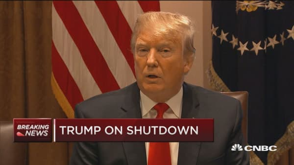 Trump comments on shutdown votes and the wall