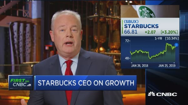 Starbucks CEO talks about how artificial intelligence is informing business strategy