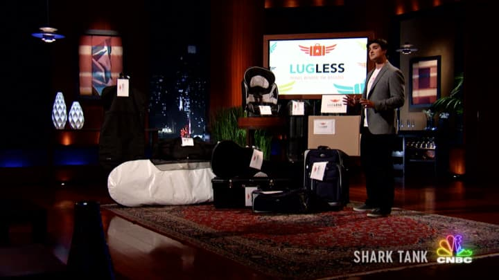 'Shark Tank' hopeful LugLess hoped to tell Mark Cuban to 'swim away' if he couldn't meet his asking price, only to 'black out' on his pitch