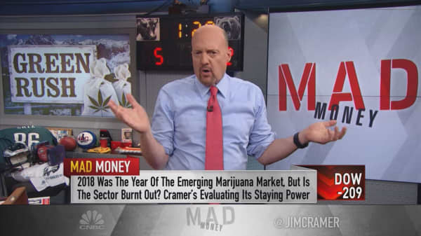 Legalization, deals, big-time branding are Cramer's 2019 pot predictions