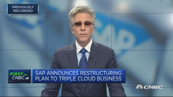 SAP restructuring after a 'huge' 2018, CEO says