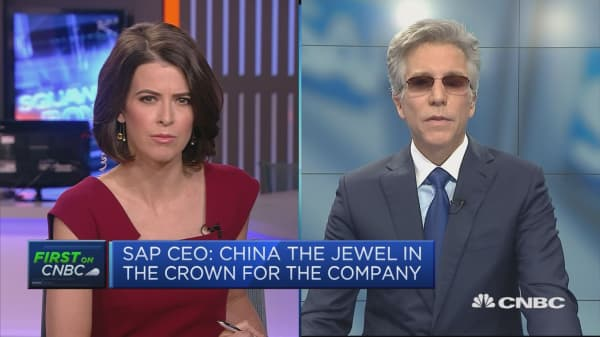 China is SAP's fastest growing market, CEO says