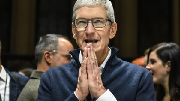 """Apple innovates like no other company on Earth, and we are not taking our foot off the gas,"" said Apple CEO Tim Cook on the company's earnings call Jan. 29, 2019."