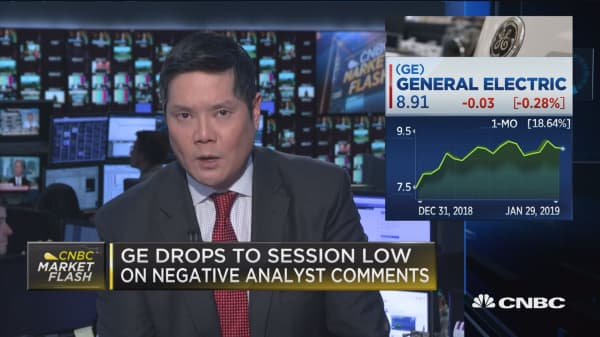 GE drops to session low on Tusa's negative comments