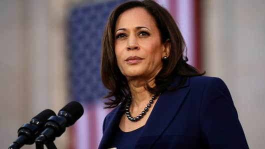 Sen. Kamala Harris launches her campaign for President of the United States at a rally at Frank H. Ogawa Plaza in her hometown of Oakland, California, January 27, 2019.