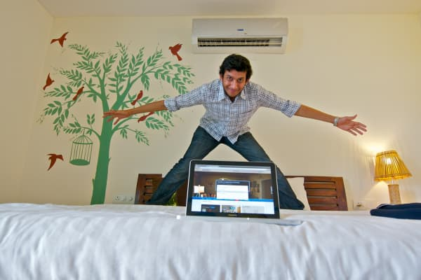 Ritesh Agarwal poses in an OYO Room on July 23, 2013 in New Delhi, India.