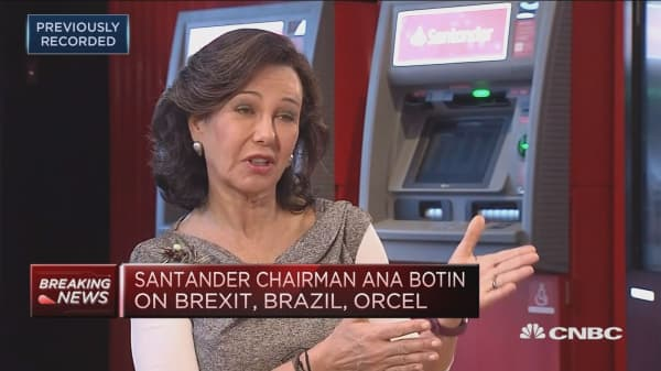US Santander's best performing country this year, chairman says