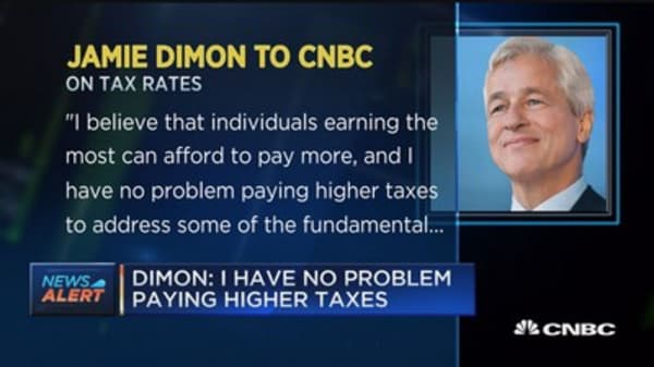 Dimon: I have no problem paying higher taxes