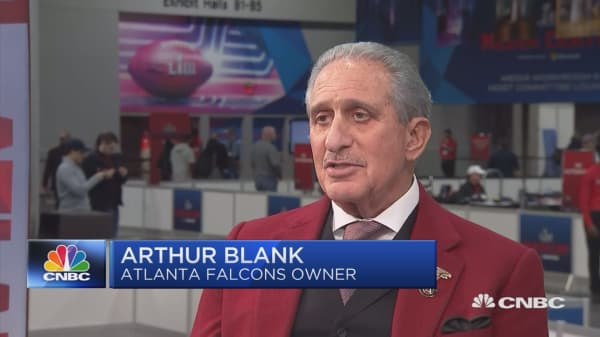Legendary Atlanta Falcons owner Arthur Blank on Super Bowl LIII
