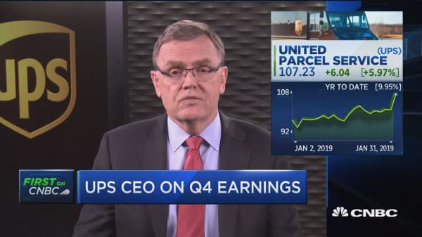 UPS CEO: There's only a slight global slowdown