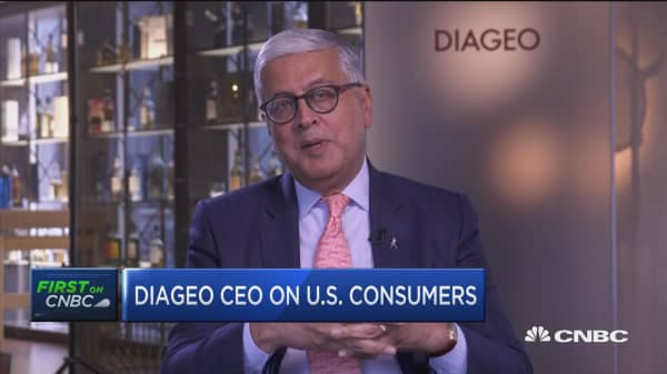 Diageo CEO: U.S. consumers are moving from beer to more premium spirits