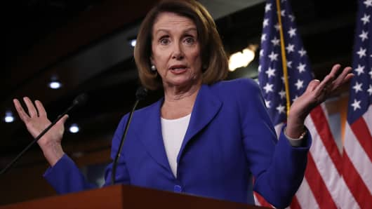 U.S. Speaker of the House Nancy Pelosi answers questions during her weekly press conference on January 31, 2019 in Washington, DC.