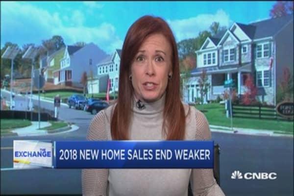 2018 new home sales end weaker
