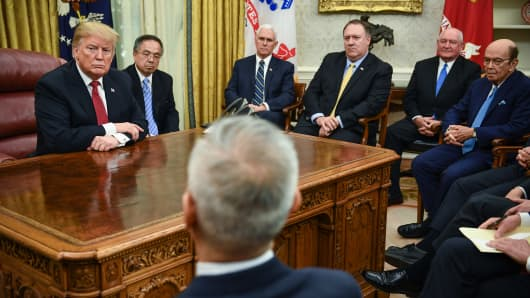 Image result for president trump meets vice premier liu at the white house jan 31, 2019