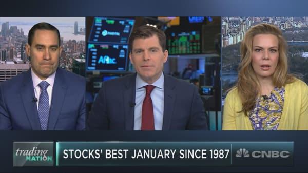 Stocks' best January since 1987