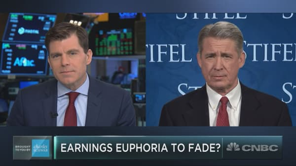 Earnings euphoria will fade deeper into 2019, Stifel strategist says