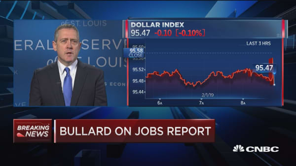 Watch CNBC's full interview with St. Louis Fed president James Bullard