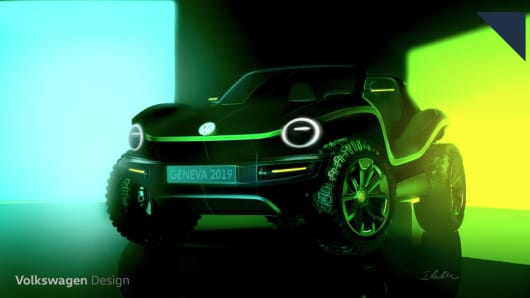 Volkswagen's electric dune buggy concept vehicle