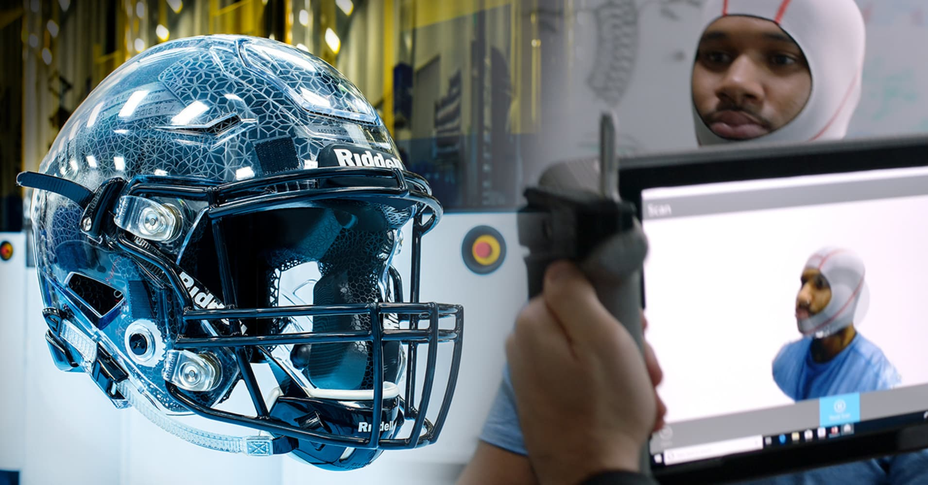 NFL teams are testing this new custom 3D-printed helmet based off scans of players' heads