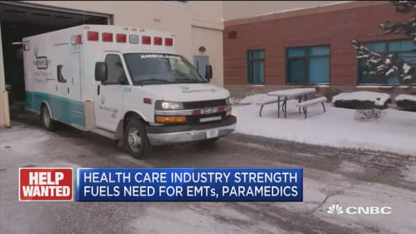 Health care industry strength fuels need for EMTs, paramedics