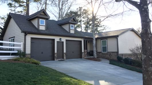 Home of Chris Driskell, who is a client of EasyKnock. Driskell sold this home to EasyKnock and he is renting it back.