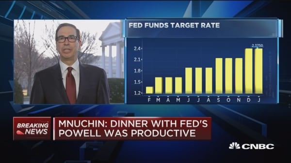 Treasury Secretary Steve Mnuchin on the meeting between Fed Chair Powell and President Trump