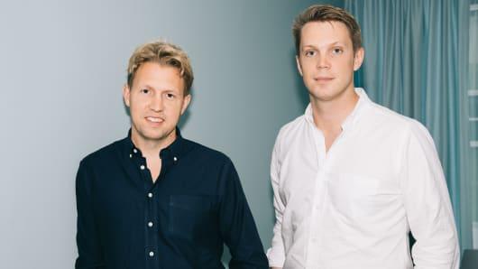 Tink co-founders Daniel Kjellen and Fredrik Hedberg.