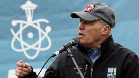 Washington Gov. Jay Inslee wants to be the 'carbon warrior' in the 2020 presidential race as other Democrats focus on taxing the rich