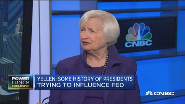 I expect solid US growth in 2019, says former Fed Chair Yellen
