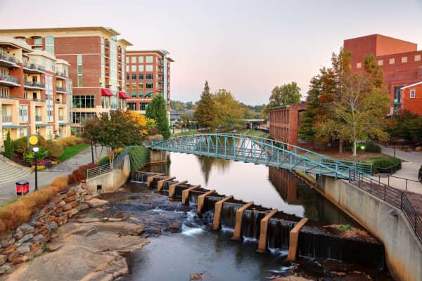 Falls Park and Reedy River, Greenville, South Carolina