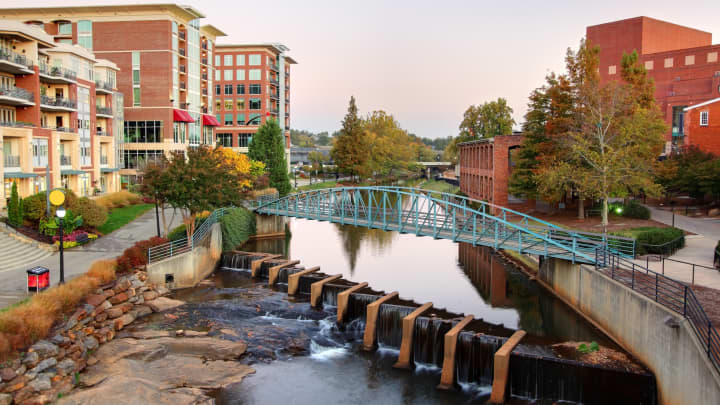 Falls Park and Reedy River, Greenville, South Carolina
