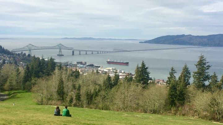 The Columbia River and Astoria, Oregon