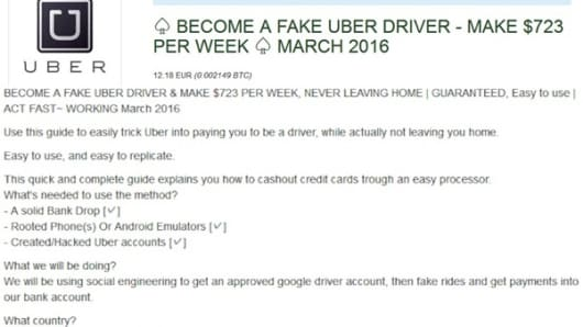 How criminals may use Uber, Airbnb to launder stolen credit card money