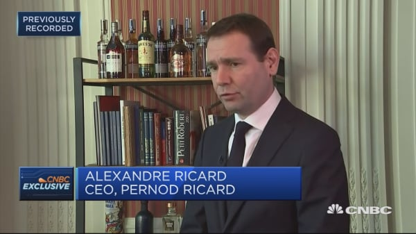 Pernod Ricard CEO: Saw very strong top-line growth in China