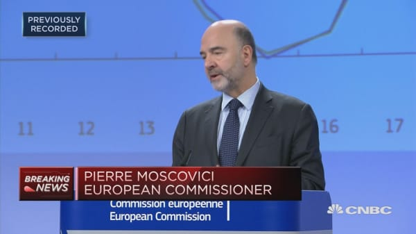 EU's Moscovici: All EU members to grow at slower pace in 2019