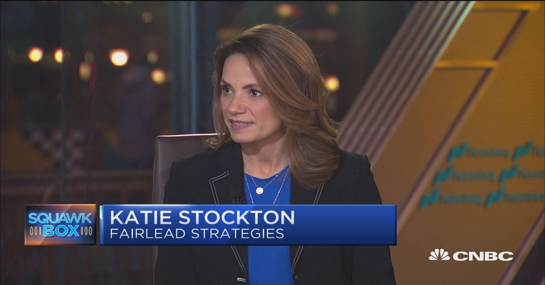 Chart analyst Katie Stockton sees a 'minimum' 2 to 3 week stock pullback