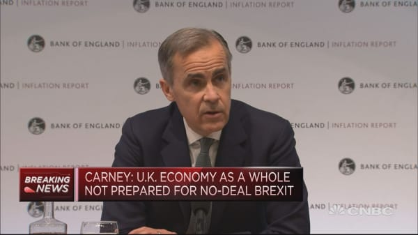 BOE's Carney: Fog of Brexit causing short-term volatility