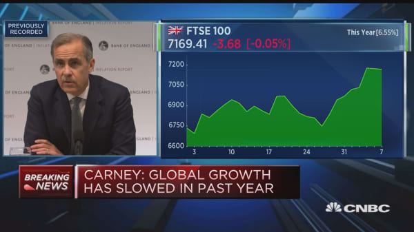 BOE's Carney: Timing of Brexit agreement, implementation could change