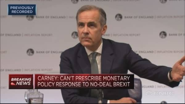 BOE's Carney: Not going to change language around interest rates